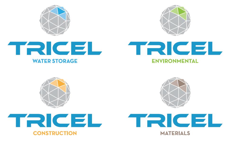 Logos des 4 divisions du Groupe Tricel
