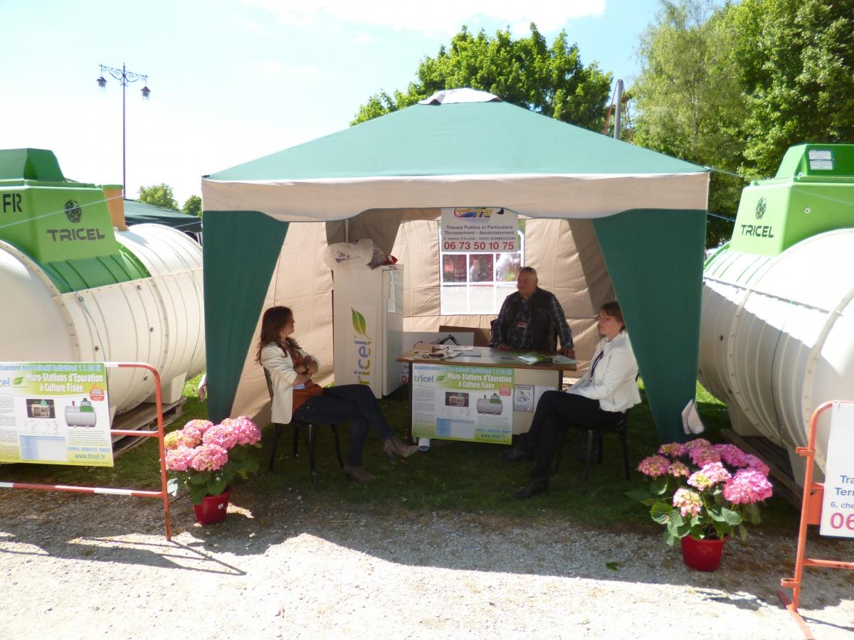 Foire Expo Saint-Dizier mai 2014 Parc du Jard - Tricel sur stand Céliange TP