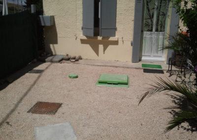 Intégration d'une micro-station d'épuration à une terrasse