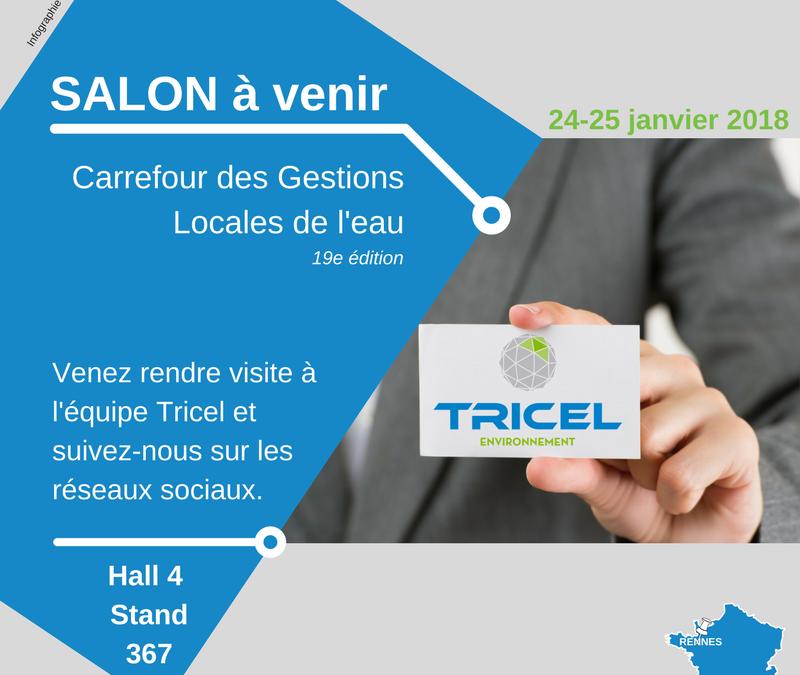 Tricel France est au Carrefour des gestions locales de l'eau 2018 !