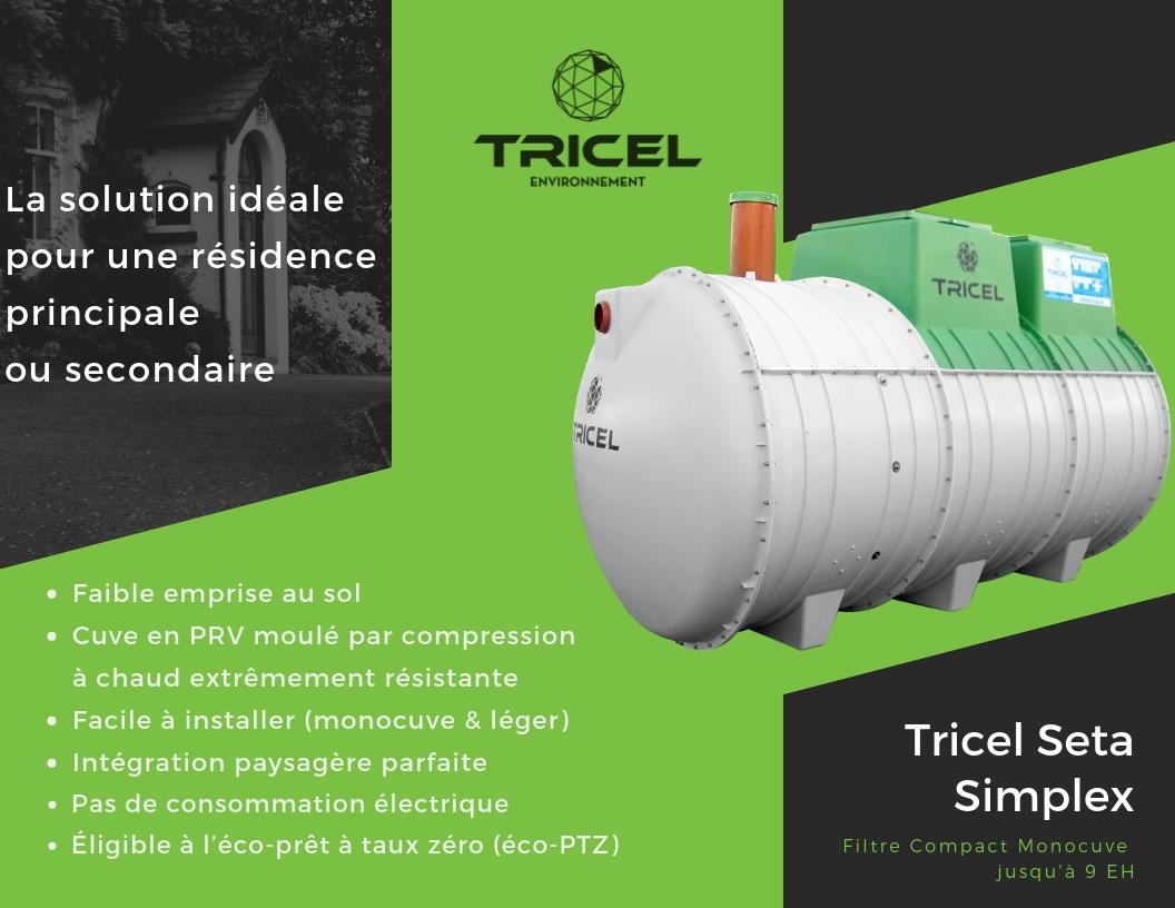 Avantages du filtre compact Tricel Seta Simplex