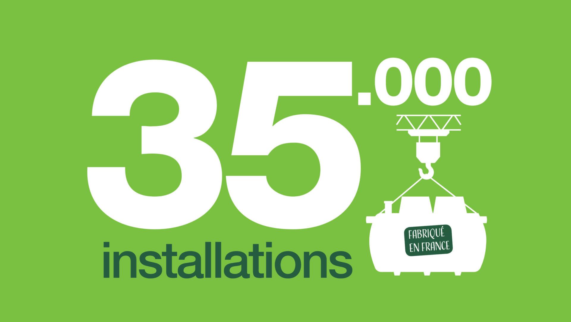 35 000 installations