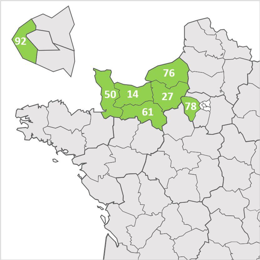 La couverture géographique de Cloacine
